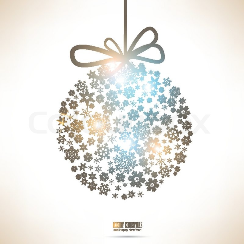 Christmas ball made from snowflakes christmas background stock christmas ball made from snowflakes christmas background stock vector colourbox aloadofball Images