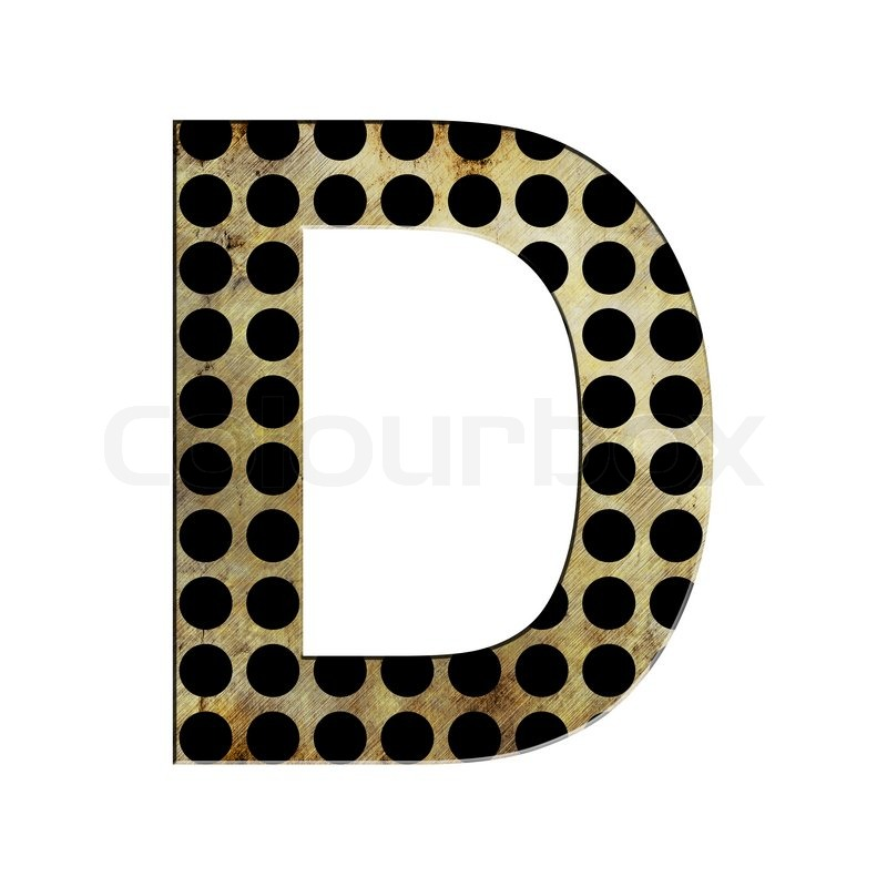 Stock image of 'letter D'