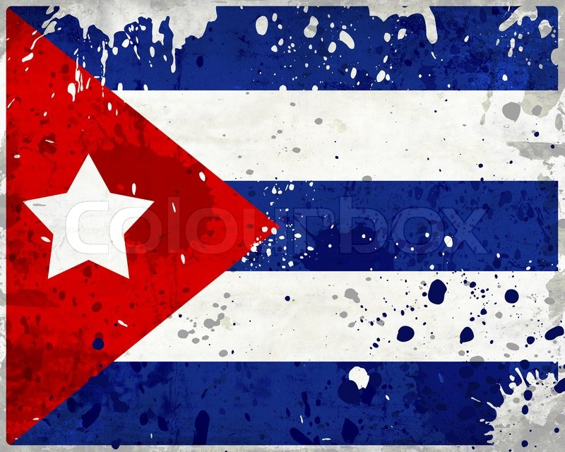 Grunge Cuba Flag With Stains