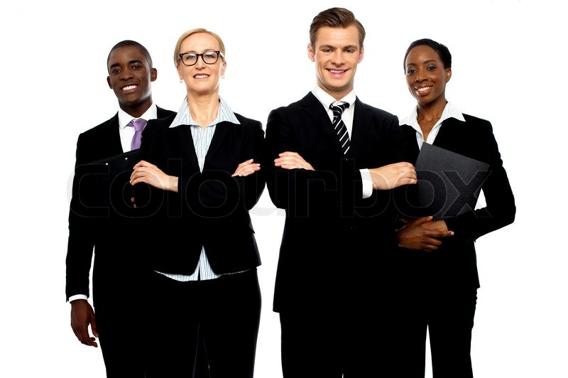 A Group Of Young Attractive Business People Stock Photo