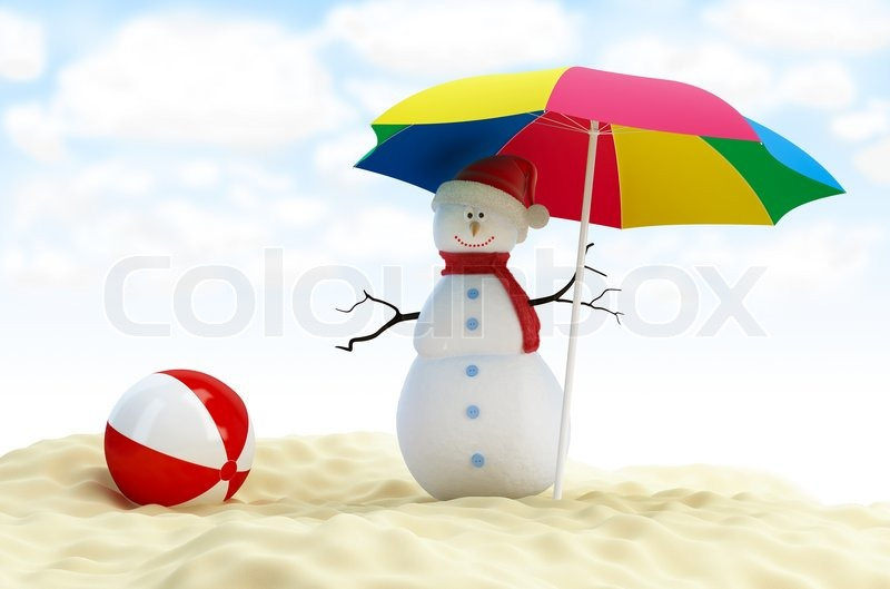 snowman on a beach stock photo colourbox