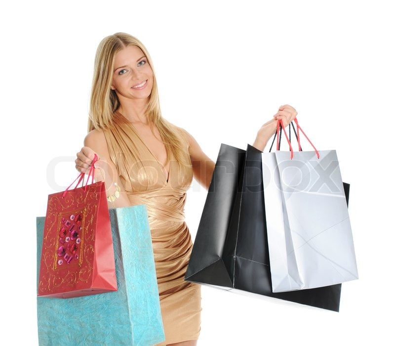 Beautiful girl with shopping bags | Stock Photo | Colourbox