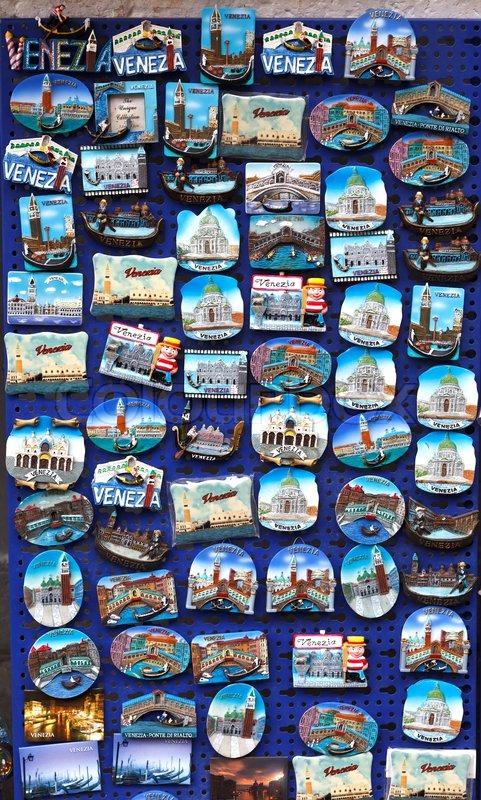 Venice Souvenir Magnets Stock Photo Colourbox