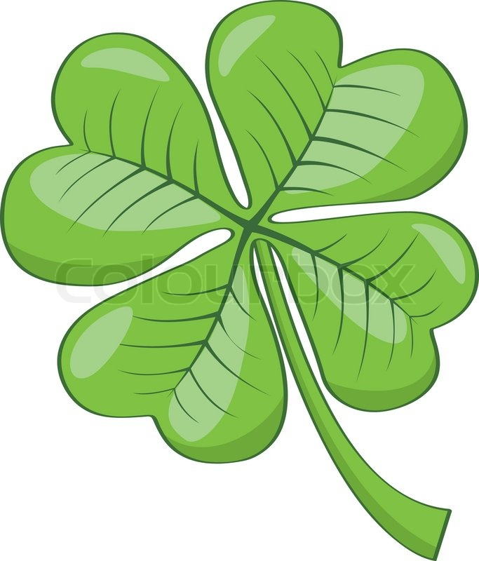 cartoon four leaf clover isolated on white background stock rh colourbox com Four Leaf Clover Designs 4 leaf clover cartoon picture