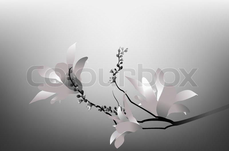 Decoration Black Illustration Design Art Silhouette Branch Bud White Spring In Flower Beauty Painting Nature Tree Petal Vector Element