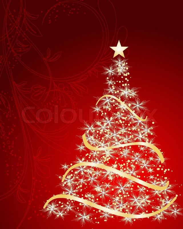 stylized vector gold christmas tree stock vector colourbox - Gold Christmas Tree