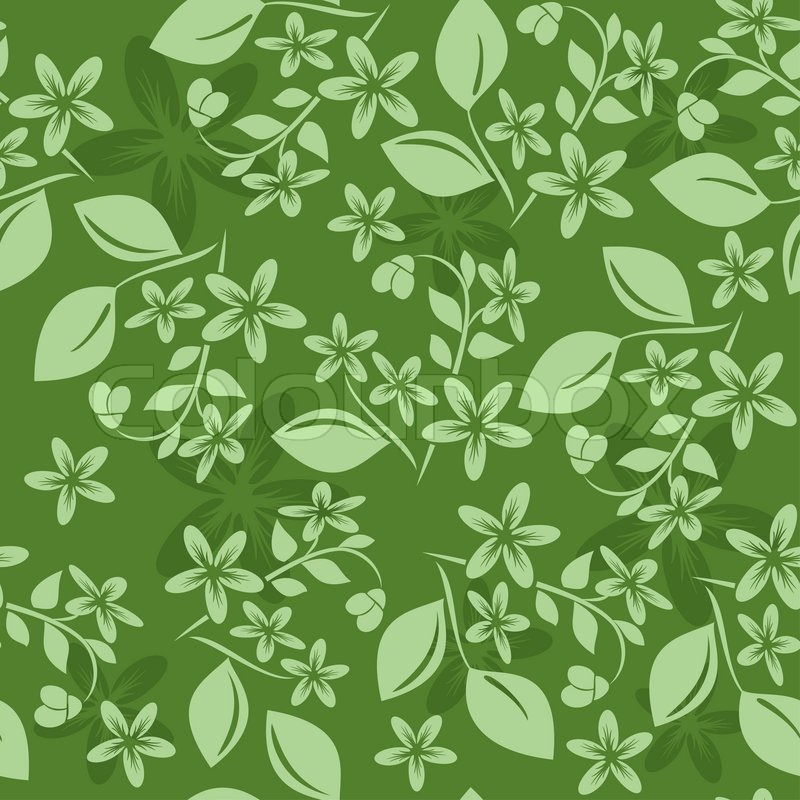 Green Seamless Floral Pattern Stock Photo Colourbox Inspiration Green Pattern