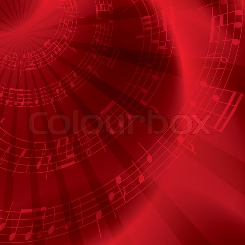 Red Background With Notes