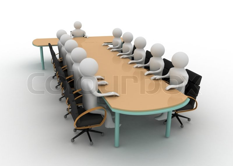 3d Man On Business Meeting Stock Photo Colourbox