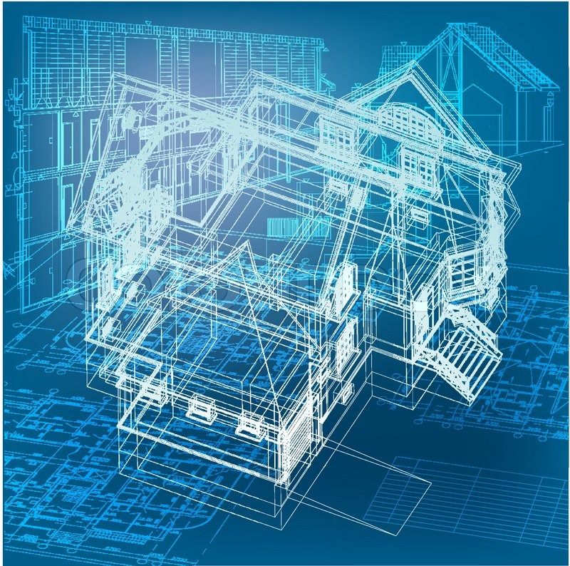 Urban blueprint vector architectural background part Blueprint builder free