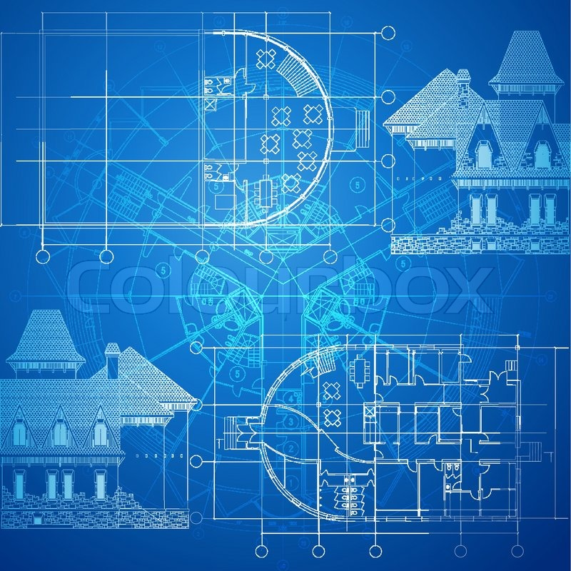 Urban blueprint vector architectural background part of stock vector of urban blueprint vector architectural background part of architectural malvernweather Image collections