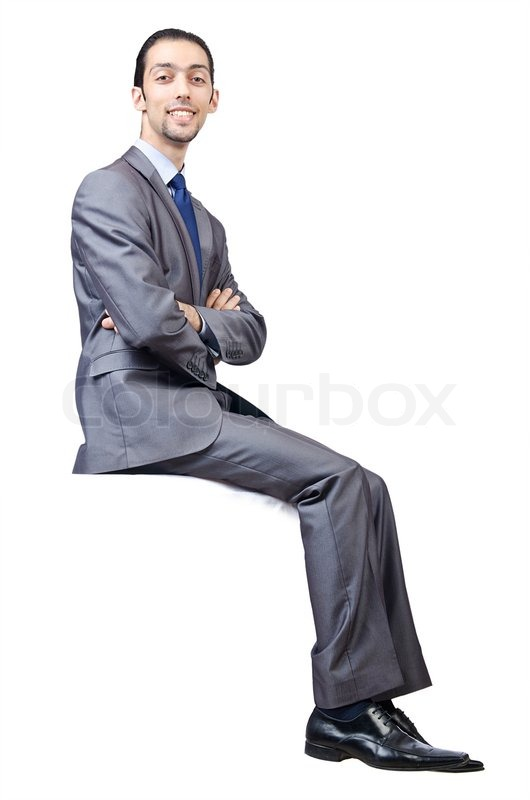 Man Sitting On Virtual Chair Stock Photo Colourbox