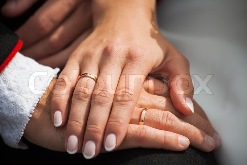 wedding rings hands stock photo colourbox - Wedding Rings On Hands