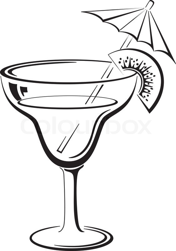 glass with drink  black pictogram stock vector colourbox margarita glass clip art silhouette margarita glass clip art free