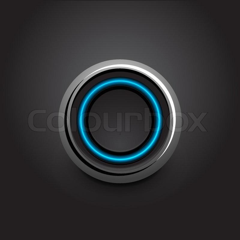 4528924 718305 vector hi tech light button design