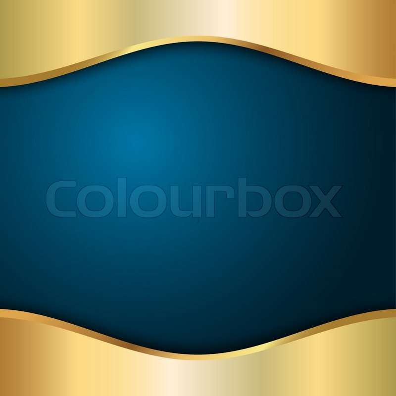 Blue and gold template | Stock Photo | Colourbox