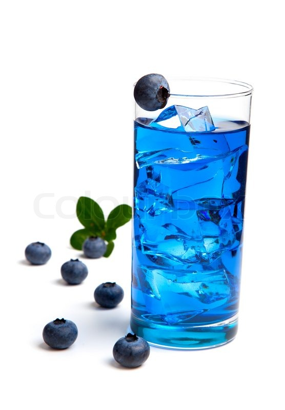 Blueberry juice / cocktail with ice,     | Stock image | Colourbox