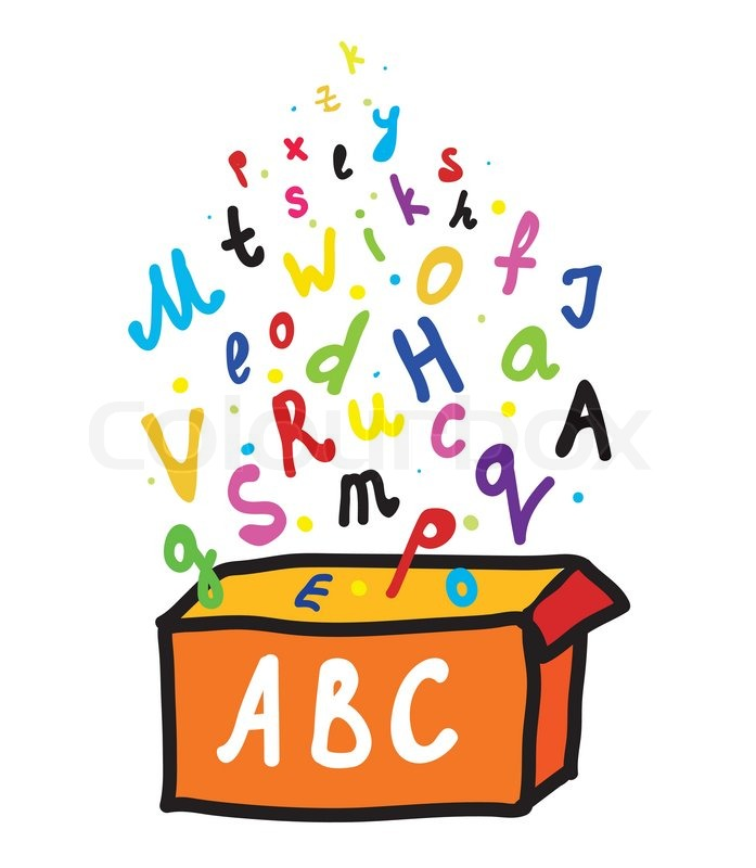 cartoon abc letters abc letters from the box cartoon vector