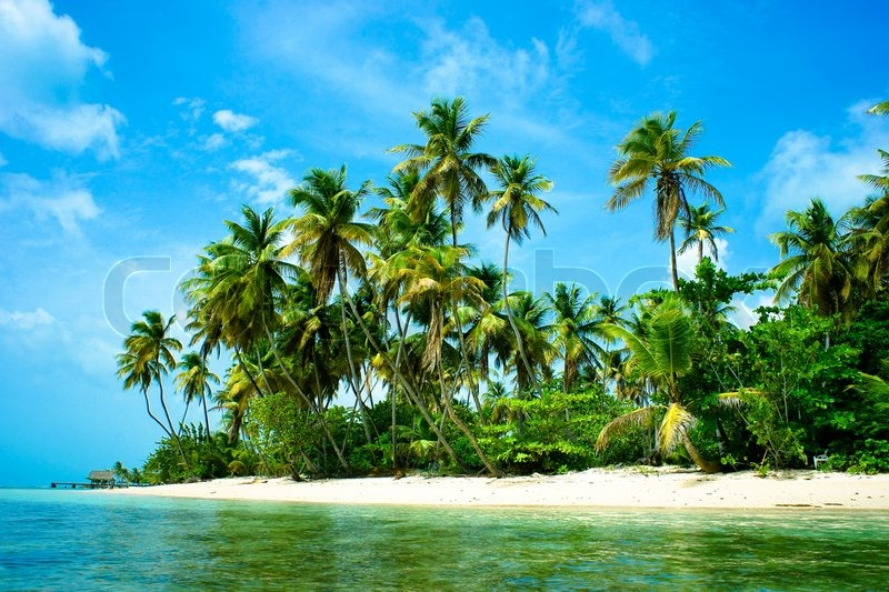 Landscape Scenery Of A Beautiful Tropical Island With