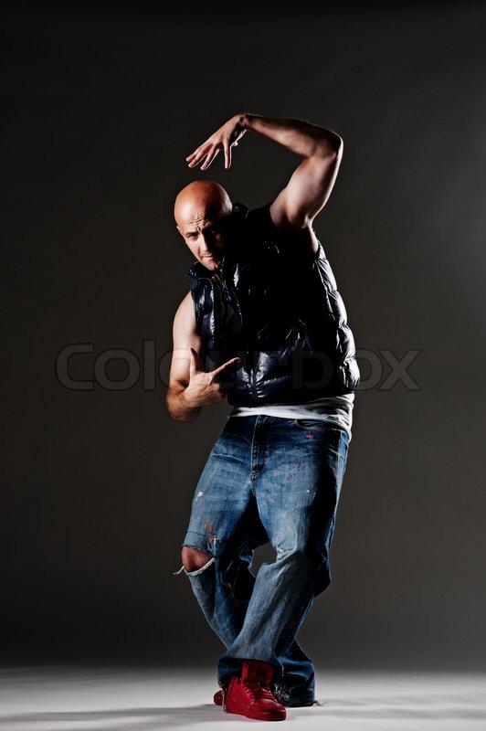 Cool Hip Hop Dance Poses Cool hip-hop man posing