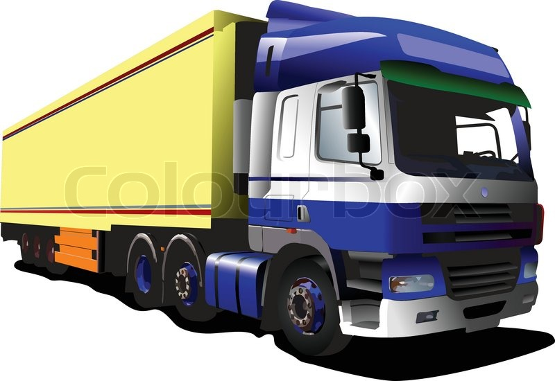 Colored Vector Illustration Of Mini Truck