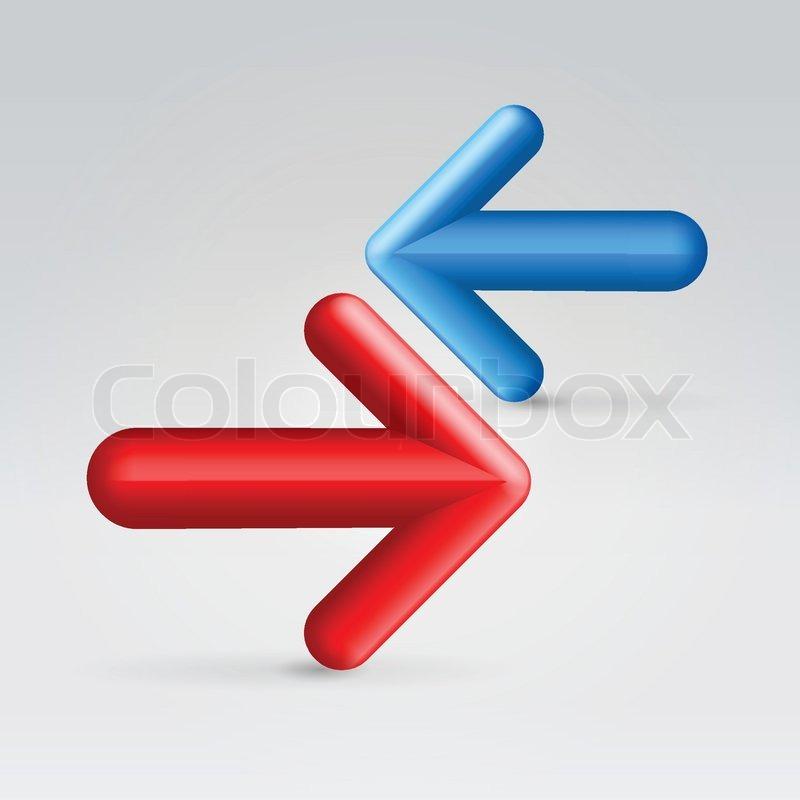 Widerstand der roten und blauen Pfeile | Vektorgrafik | Colourbox
