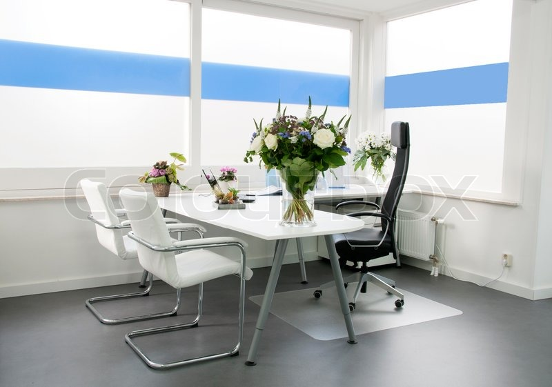 Clean white office, stock photo