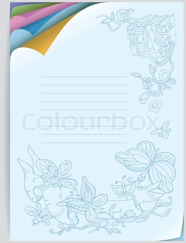 Notebook Cover Curved Corners Of Stock Vector Colourbox