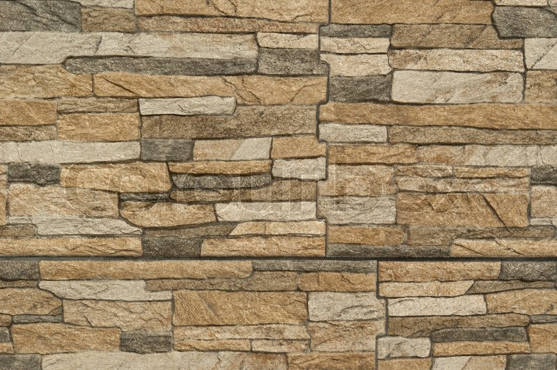 Modern pattern of stone wall decorative surfaces | Stock Photo | Colourbox