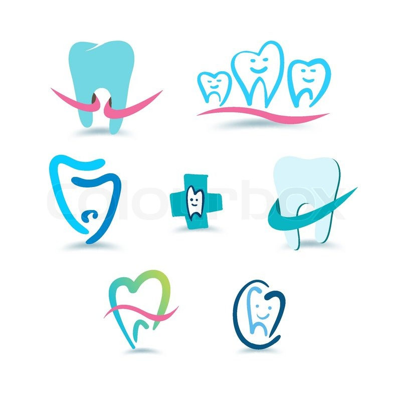Dental Logo Vector Stock Vector of 39 Dental Icons