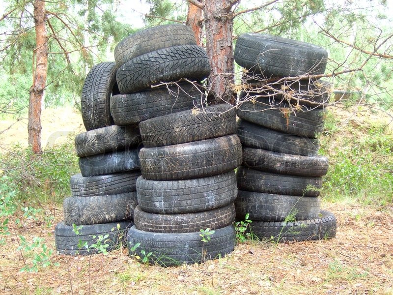 Old tires stock photo colourbox - What to make with old tires ...