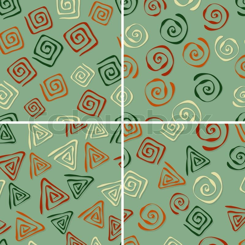 Funky Abstract Seamless Patterns Vector 4 Vector Seamless Patterns
