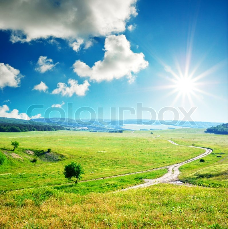 Stock image of 'Green walley in mountain'