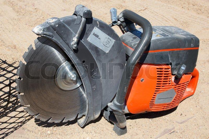 Mechanical Concrete Block Saw Stock Photo Colourbox