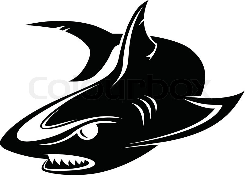 Company Business Logo Design Vector Black Shark