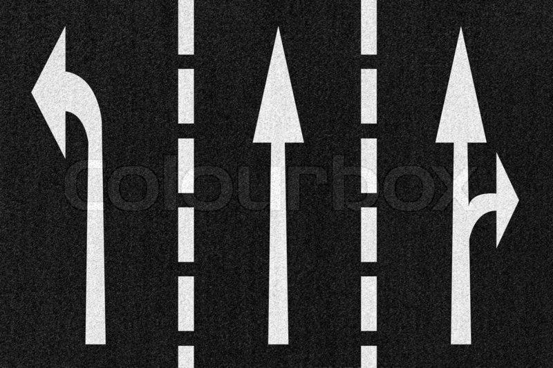 road arrows direction on asphalt texture stock photo colourbox