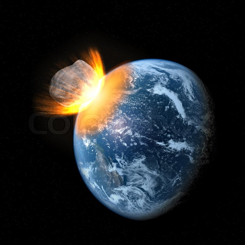 flaming asteroid hitting the earth - photo #12
