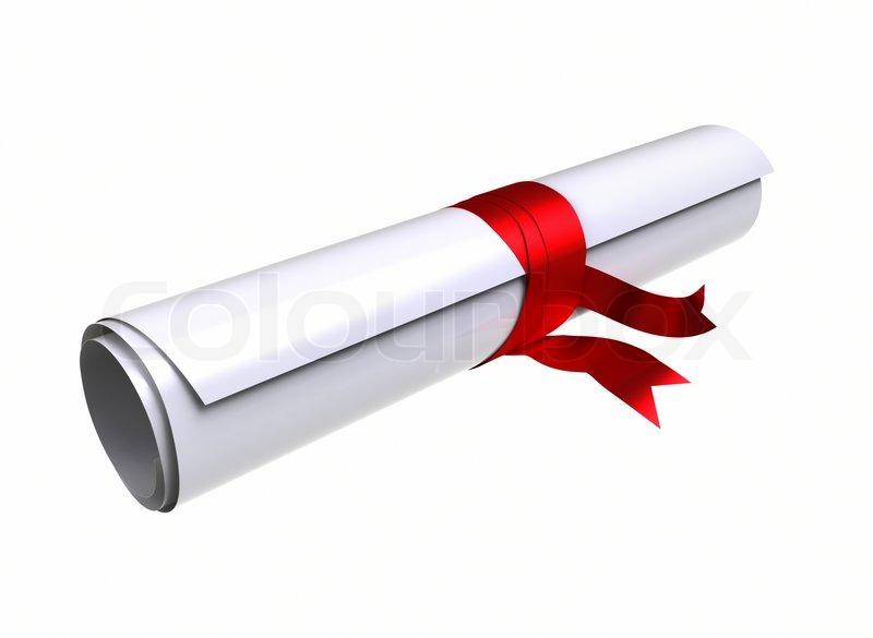 Graduation Diploma Graduation diploma - clipping
