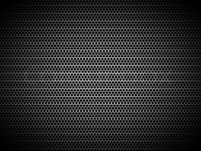 Perforated Black Metal Panel Industrial Texture Stock