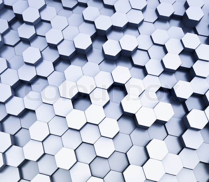 Abstract hexagonal cubes background, 3d rendering | Stock Photo | Colourbox
