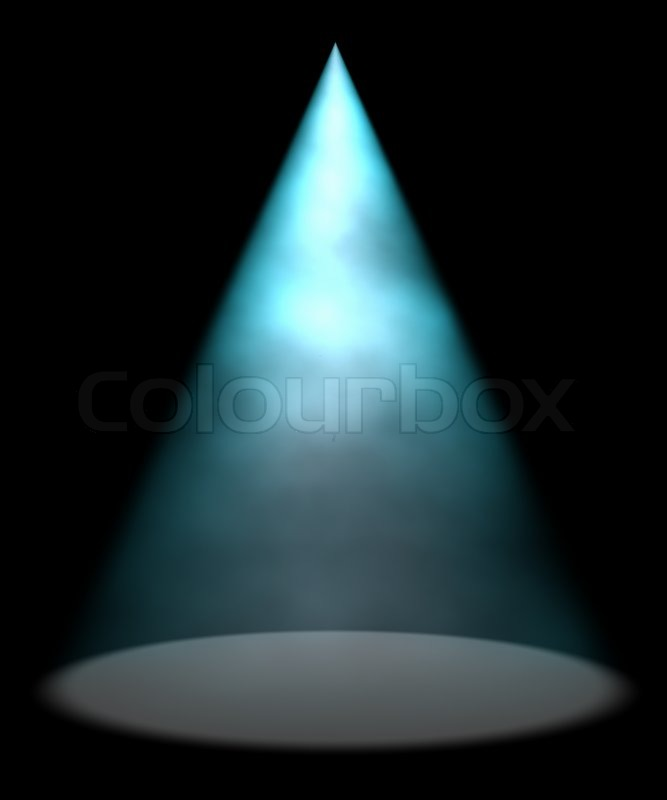 Simple Blue Spot Light Illumination Stage Floor