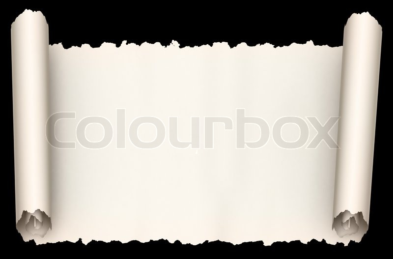 Old paper scroll | Stock image | Colourbox