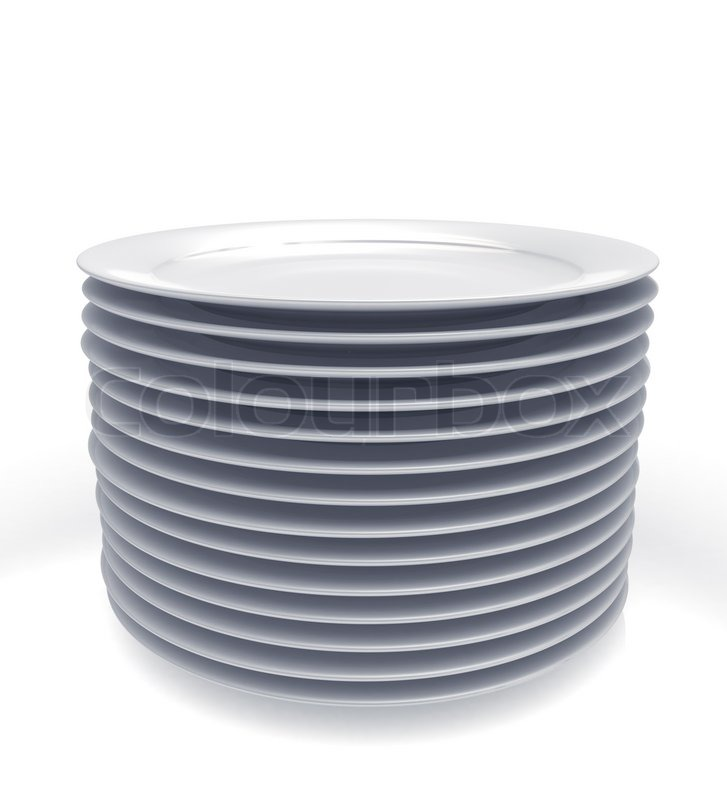 Stack Of White Plates Stock Photo Colourboxrhcolourbox: Kitchen Plates At Home Improvement Advice