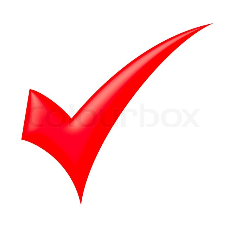 Red Check Mark Stock Photo Colourbox