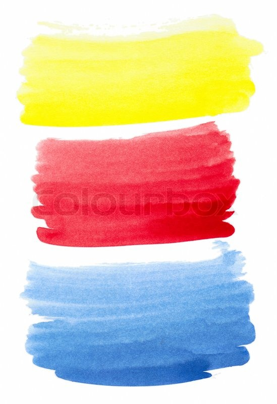set of color brush strokes stock photo colourbox