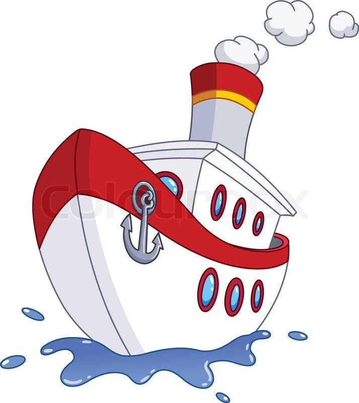 Cartoon schiff vektorgrafik colourbox