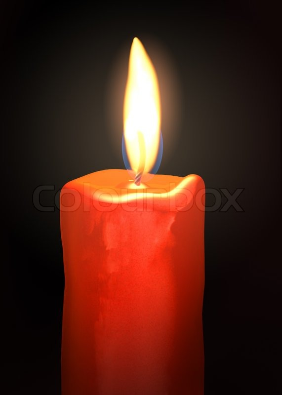 Flame Of Burning Candle Stock Photo Colourbox