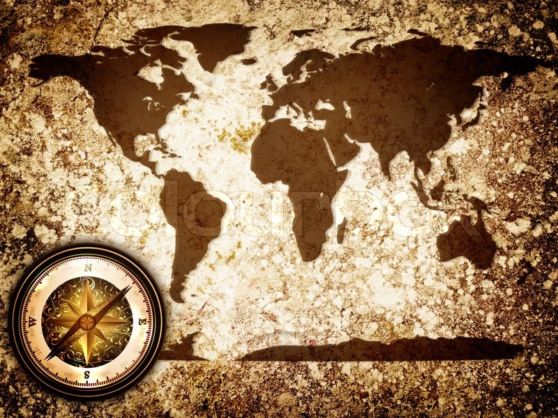Abstract vintage grunge travel background with world map and compass abstract vintage grunge travel background with world map and compass stock photo colourbox gumiabroncs Gallery