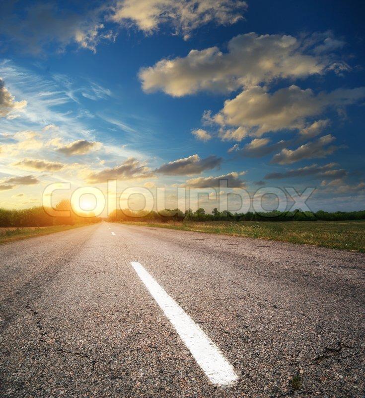 Deep road, stock photo
