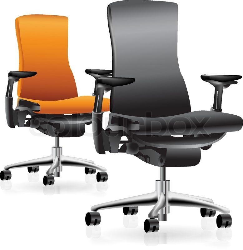 Set Of Two Office Chairs Vector Clip Art